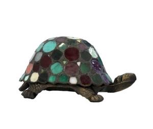 Lampada da tavolo Tiffany tartaruga multicolore