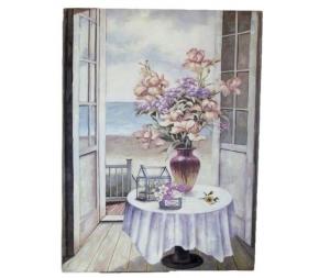 Quadro decorativo canevas stampa fiori