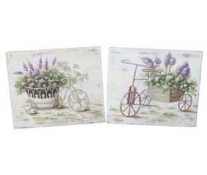 Quadro decorativo coppia di canevas stampa biciclette