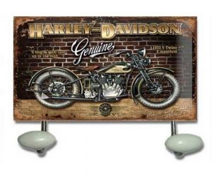 Appendino da parete 2 ganci in metallo harley davidson
