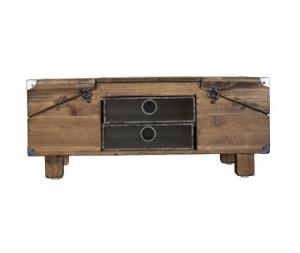Cofanetto in legno multiscomparto h23x53x30 cm
