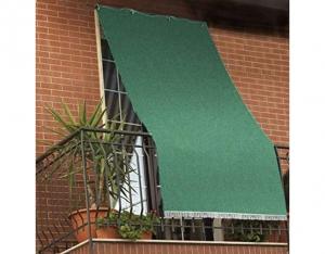 Tenda da Sole a Tinta unita per Balcone Veranda o Terrazzo con Anelli e Ganci Tessuto Resistente da Esterno