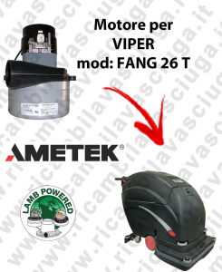 FANG 26 T LAMB AMETEK vacuum motor for scrubber dryer VIPER