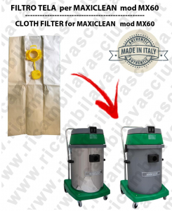 Sacco carta litres 19 with plug for MAXICLEAN mod MX 60 conf. 10 pieces - vacuum cleaner SYNCLEAN