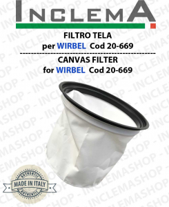 Canvas Filter WIRBEL COD 20-669 for vacuum cleaner