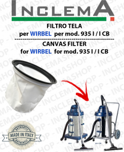935 I / I CB Canvas Filter for vacuum cleaner WIRBEL