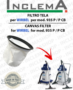 935 P / P CB Canvas Filter for vacuum cleaner WIRBEL