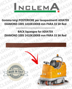 Back Squeegee Rubber for Scrubber Dryer ADIATEK DIAMOND 100S