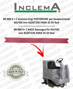 BR 800 S+C Back Squeegee Rubber for Scrubber Dryer NILFISK