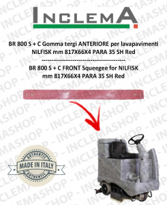 BR 800 S+C Front Squeegee Rubber for Scrubber Dryer NILFISK