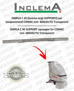 SIMPLA C 45 Squeegee Rubber SUPPORTO for  lavapavimenti COMAC