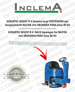SCRUBTEC BOOST R 4 Back Squeegee Rubber for Scrubber Dryer NILFISK