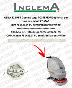 ABILA 2010 52 B/BT Back Squeegee Rubber optional for Scrubber Dryer COMAC Old Alluminiumsq. till s/n 111011125