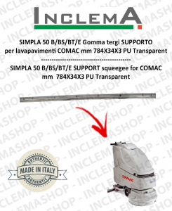 SIMPLA 50 B/BS/BT/E Squeegee Rubber SUPPORT for Scrubber Dryer COMAC