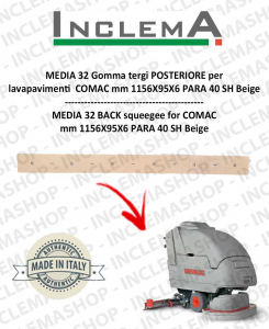 MEDIA 32 Back Squeegee Rubber for Scrubber Dryer COMAC