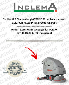 OMNIA 32 B Front Squeegee Rubber for Scrubber Dryer COMAC
