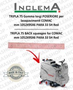 TRIPLA 75 B II SERIE Back Squeegee Rubber for Scrubber Dryer COMAC