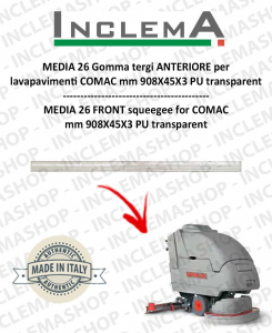 MEDIA 26 Front Squeegee Rubber for Scrubber Dryer COMAC