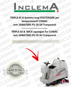 TRIPLA 65 B Back Squeegee Rubber for Scrubber Dryer COMAC (squeegee da 926mm)