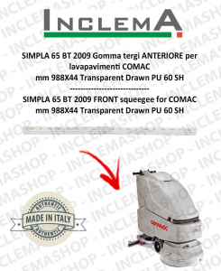 SIMPLA 65 BT 2009 Front Squeegee Rubber for Scrubber Dryer COMAC