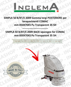SIMPLA 50 B/BT/E Back Squeegee Rubber for Scrubber Dryer COMAC