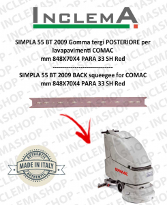 SIMPLA 55 BT Back Squeegee Rubber for Scrubber Dryer COMAC