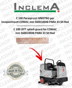 C 100 Paraspruzzi SINISTRO for Scrubber Dryer COMAC