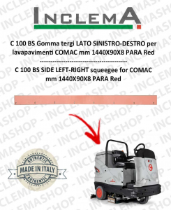 C 100 BS Paraspruzzi LATO SINISTRO-DESTRO for Scrubber Dryer COMAC