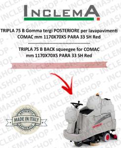 TRIPLA 75 B Back Squeegee Rubber for Scrubber Dryer COMAC (squeegee da 1085 mm)