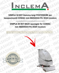 SIMPLA 50 BST Back Squeegee Rubber for Scrubber Dryer COMAC