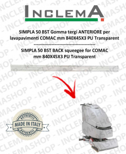 SIMPLA 50 BST Front Squeegee Rubber for Scrubber Dryer COMAC