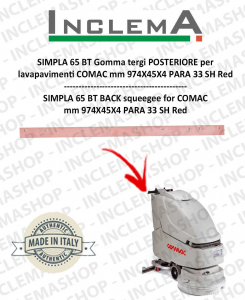 SIMPLA 65 BT Back Squeegee Rubber for Scrubber Dryer COMAC
