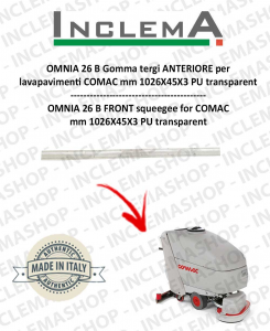 OMNIA 26 B Front Squeegee Rubber for Scrubber Dryer COMAC