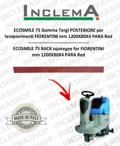 ECOSMILE 75 Back Squeegee Rubber for Scrubber Dryer FIORENTINI (squeegee a