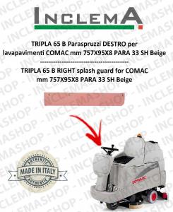 TRIPLA 65 B Right Splash guard for Scrubber Dryer COMAC