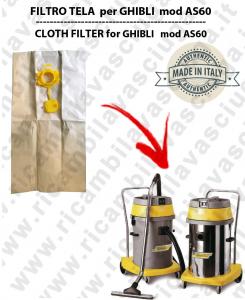 SACCO CARTA litri 19 con tappo para GHIBLI AS60/600 conf. 10 pezzi - aspiradora GHIBLI