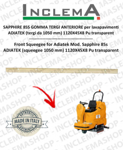SAPPHIRE 85S goma de secado delantera para fregadora ADIATEK (tergi da 1050 mm)