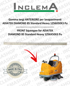 goma de secado delantera para fregadora  ADIATEK DIAMOND 85 Standard Heavy