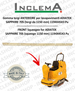 goma de secado delantera para fregadora ADIATEK SAPPHIRE 70S (tergi da 1150 mm)