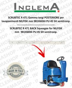 SCRUBTEC R 471 goma de secado trasero para fregadora NILFISK
