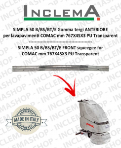 SIMPLA 50 B/BS/BT/E goma de secado delantera optional para fregadora COMAC