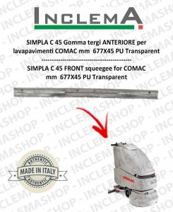 SIMPLA C 45 goma de secado delantera para  fregadora COMAC
