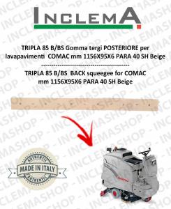 TRIPLA 85 B/BS goma de secado trasero para fregadora COMAC