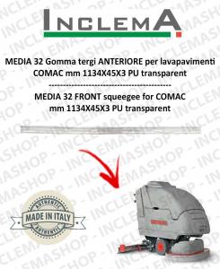MEDIA 32 II serie goma de secado delantera para fregadora COMAC