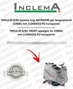 TRIPLA 85 B/BS goma de secado delantera para fregadora COMAC