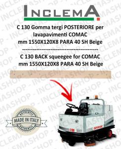 C 130 goma de secado trasero para fregadora COMAC