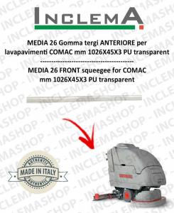 MEDIA 26 goma de secado delantera para fregadora COMAC