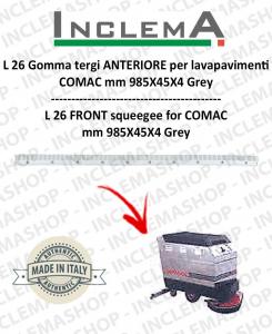 L 26 goma de secado delantera para fregadora COMAC