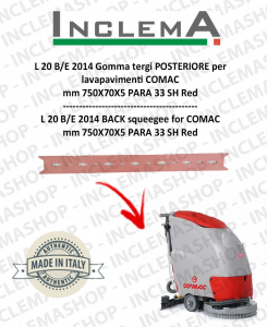 L 20 B/E 2014 goma de secado trasero para fregadora COMAC (tergi da 680mm)