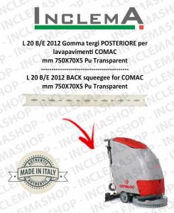 L 20 B/E 2012 goma de secado trasero para fregadora COMAC